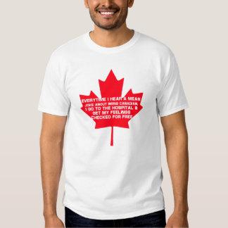 Traurig über Sein kanadisch Shirt