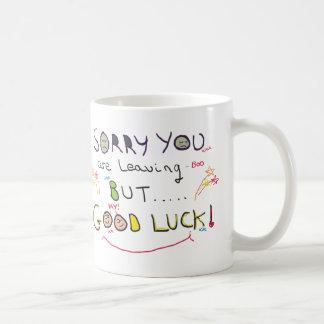 Traurig verlassen Sie Arbeit Kaffeetasse