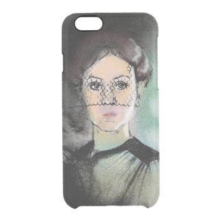 Traurige Dame Durchsichtige iPhone 6/6S Hülle
