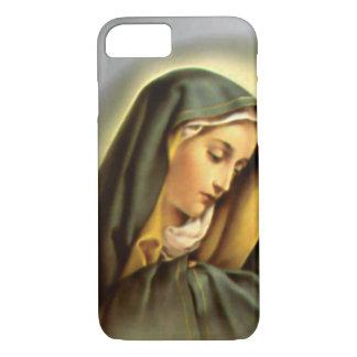 Traurige gesegnete Jungfrau Mary im Gebet iPhone 8/7 Hülle
