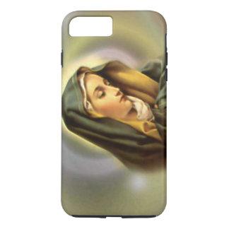 Traurige gesegnete Jungfrau Mary im Gebet iPhone 8 Plus/7 Plus Hülle
