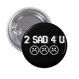 Traurige Jungen Runder Button 3,2 Cm