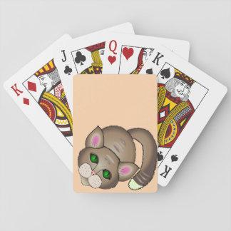 Traurige Katze Spielkarte