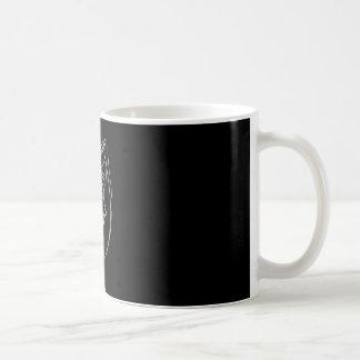 Traurige Mädchen-Tasse im Schwarzen Kaffeetasse