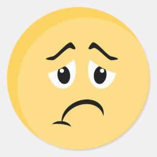 Trauriger Emoji Aufkleber