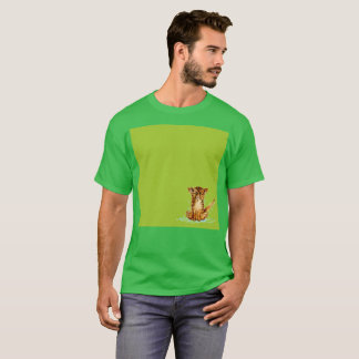 Trauriger Gato grüner Limonadewatercolor-seltener T-Shirt