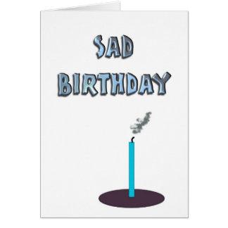 Trauriger Geburtstag Karte