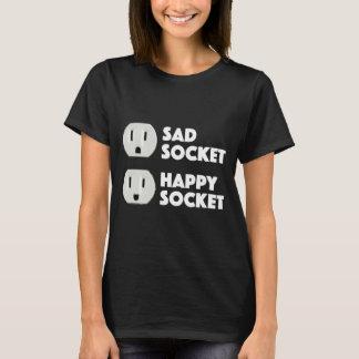 Trauriger Sockel-glücklicher Sockel-niedlicher T-Shirt