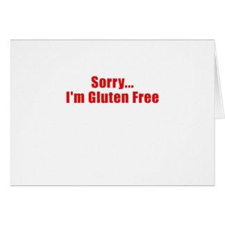 Trauriges Gluten Im geben frei Grußkarte