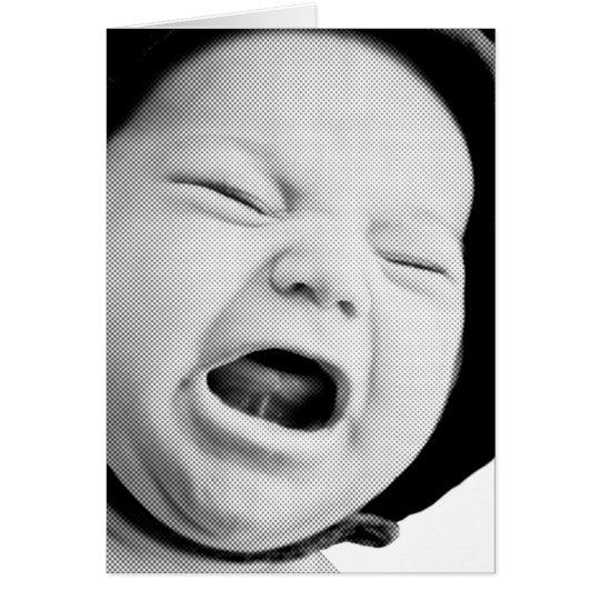 Trauriges oder wütendes schreiendes Baby Karte