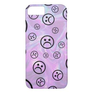 Trauriges Pastellgesicht iPhone 8/7 Hülle