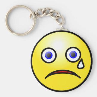 Trauriges schreiendes Gesicht Keychain Schlüsselanhänger