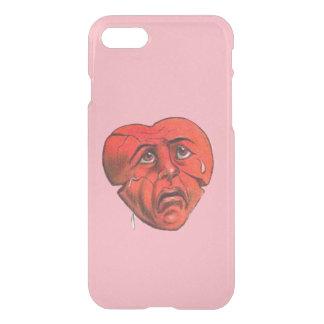Trauriges schreiendes rotes Herz-Gesicht iPhone 8/7 Hülle