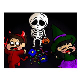Trauriges Skelett Postkarte