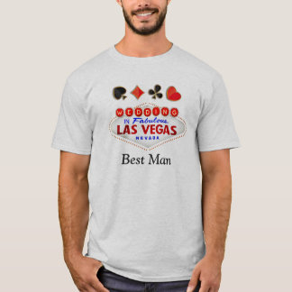 Trauzeuge-Hochzeit in fabelhaftem Las T-Shirt
