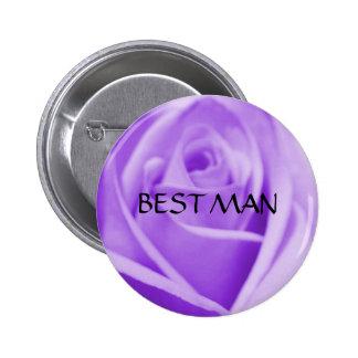 TRAUZEUGE - Lavendel-Rosenknopf Runder Button 5,1 Cm