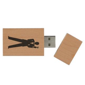 Trauzeuge-oder des Trauzeugen Foto-Speicher Holz USB Stick