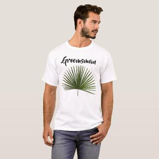 Trauzeuge-tropische Palmen-Wedel-Blatt-Hochzeit T-Shirt
