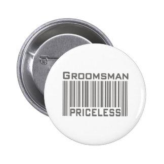Trauzeuge unbezahlbar runder button 5,7 cm
