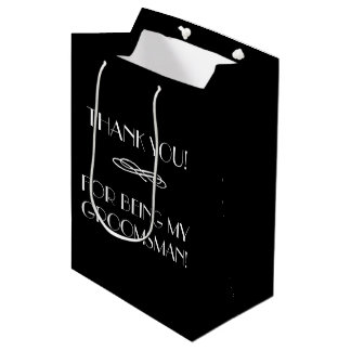 Trauzeugen oder Trauzeuge danken Ihnen, mit Medium Geschenktüte