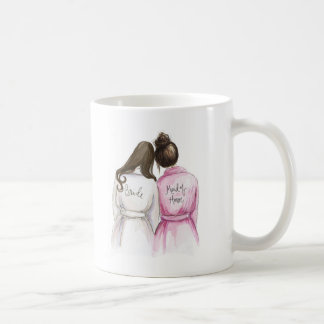 Trauzeugin? DK-Br-langes Braut-Br-Brötchen-Mädchen Kaffeetasse