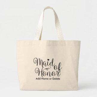 Trauzeugin-große Taschen-Leinwand-Taschen-Tasche Jumbo Stoffbeutel