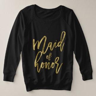 Trauzeugin-Imitat-Gold plus Größe Große Größe Sweatshirt