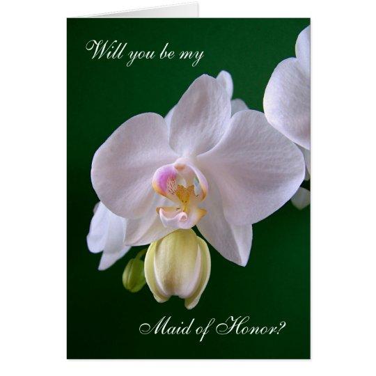 Trauzeugin. Orchideen-Blume Karte