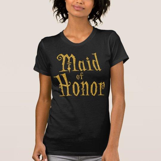 Trauzeugin-Shirts für Halloween-Party-Gold T-Shirt