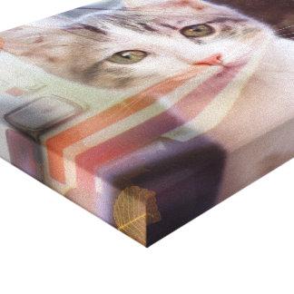 Traveling Cat Leinwanddruck