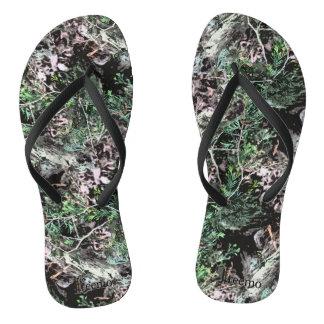 Treemo Gang-drehen dünne Kiefern-Natur-Camouflage Flip Flops