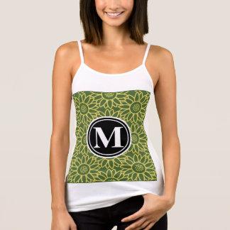 Treetop-Sonnenblume-personalisiertes Monogramm Tank Top