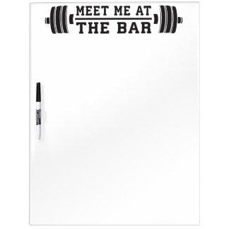 Treffen Sie mich am Bar - Barbell - Workout Memoboard