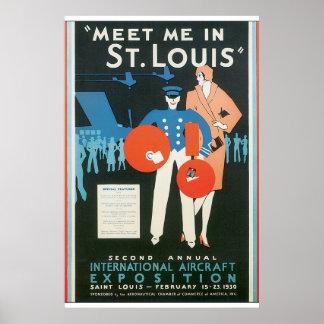 Treffen Sie mich Reise-Plakat-Grafik St. Louis in Poster