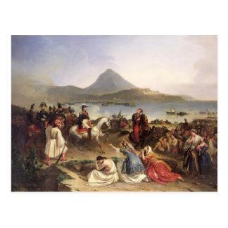 Treffen zwischen General Nicolas Joseph Maison Postkarte