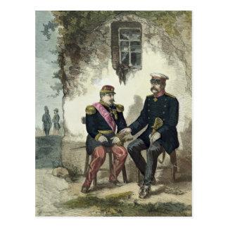 Treffen zwischen Otto von Bismarck und Napoleon Postkarte