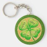 Trèfle de quatre feuilles - chance d'amour d'espoi porte-clefs
