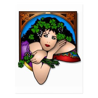 Trèfle mignon de bouquet de Patrick d'Irlandais de Carte Postale