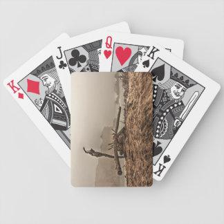 Treibholz auf einem nebeligen Strand 2 Bicycle Spielkarten