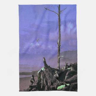 Treibholz auf Strand Handtuch