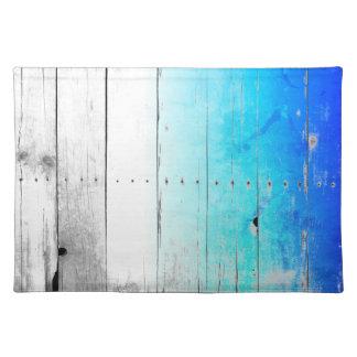 Treibholz-Blau malte Holz verwittertes See Stofftischset