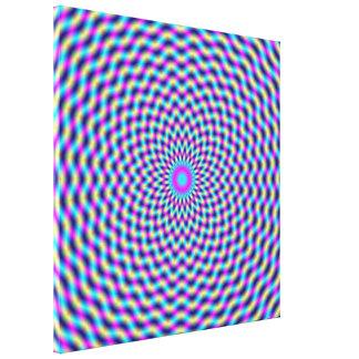 Trellis circulaire d'impression de toile dans le impressions sur toile
