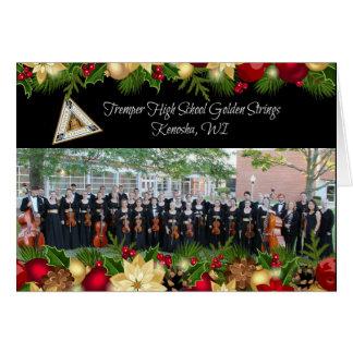 Tremper goldene Schnur-Weihnachtskarte 2015-16 Karte