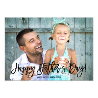 Trendy der Vatertags-Foto des Skript-| 12,7 X 17,8 Cm Einladungskarte