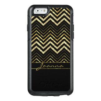 Trendy Diamanten und GoldZickzack Muster OtterBox iPhone 6/6s Hülle