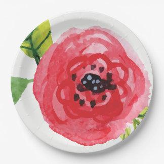 Trendy dunkle rosa Papierplatte der Pappteller
