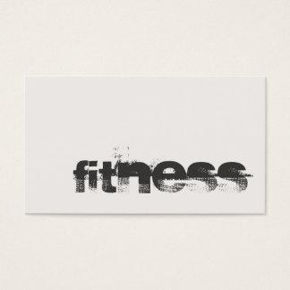 Trendy Elfenbein-grauer Fitness-Sport beruflich Visitenkarte