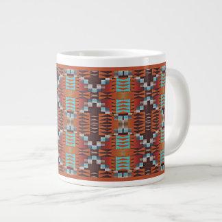 Trendy gebürtiger Ureinwohner-Stammes- Muster Jumbo-Tasse