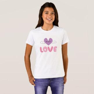 Trendy Herz-Liebe-Mädchen-T - Shirt