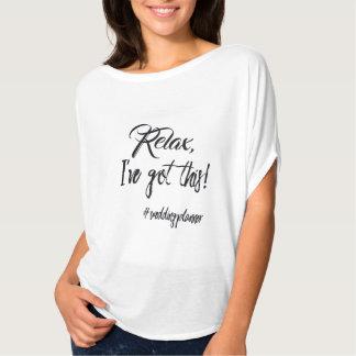Trendy Hochzeits-Planer-Spaß-Shirt T-Shirt